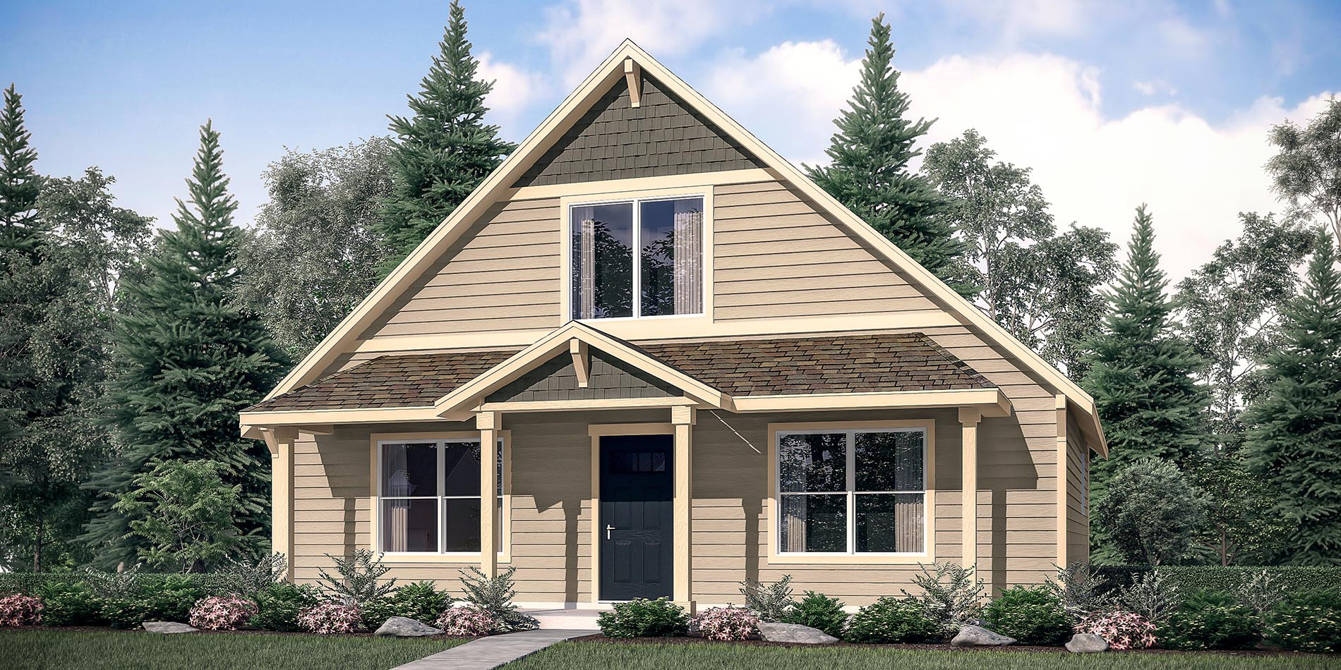 The rhododendron custom home floor plan adair homes for Adair home plans