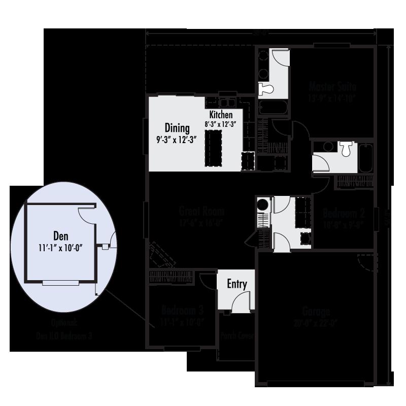 The Arcadia East Custom Home Floor Plan Adair Homes
