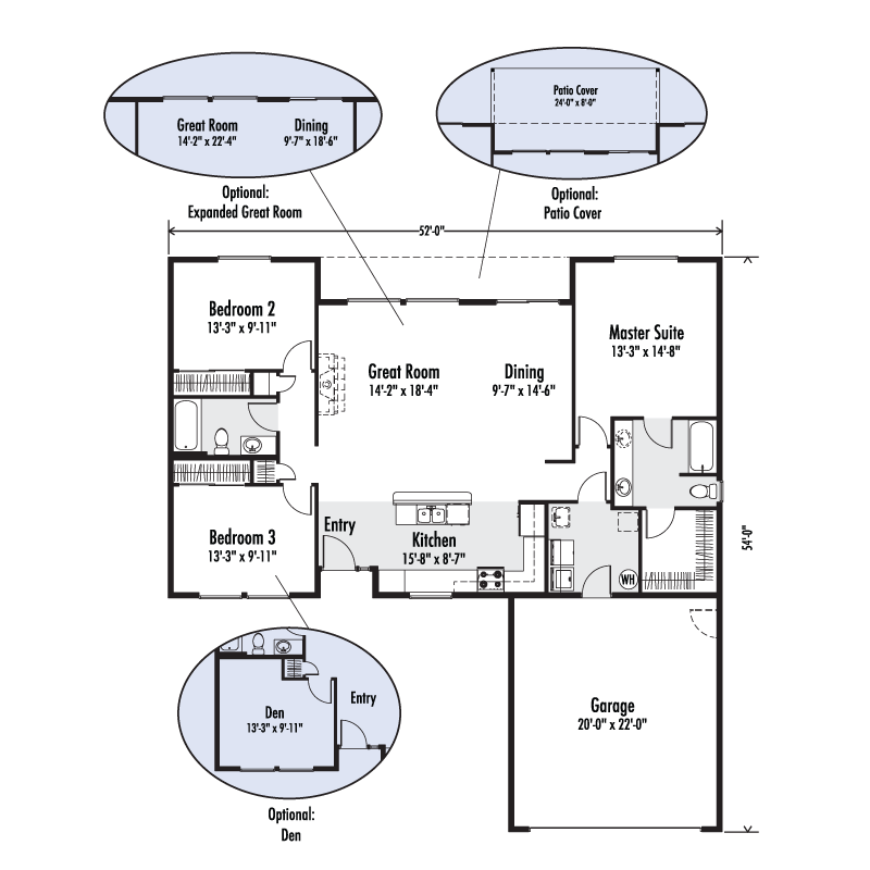 Winchester Master Suite: Custom Home Floor Plan
