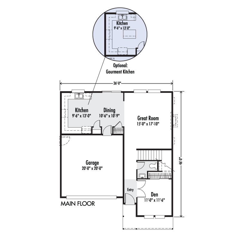 The Columbia Custom Home Floor Plan Adair Homes