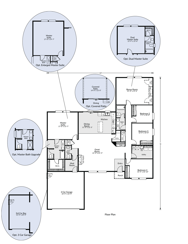 Floorplans. Main